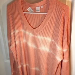 1X Pria peach coloured v-neck sweater